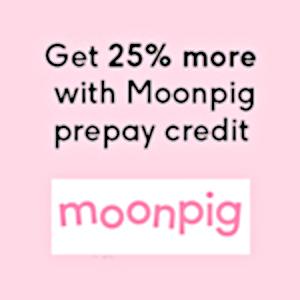 Moonpig Coupon Code - Get 25% More!