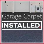 Installed Garage Carpet